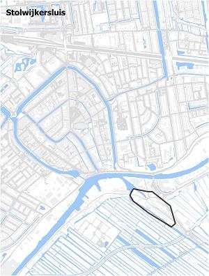Kaart waarop Stolwijkersluis staat ingetekend